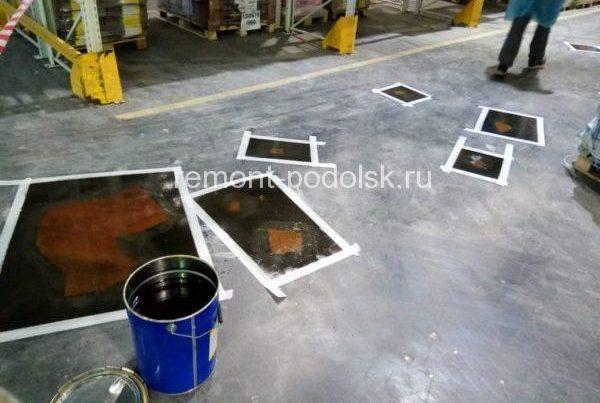 Ремонт бетонного пола эпоксидным составом