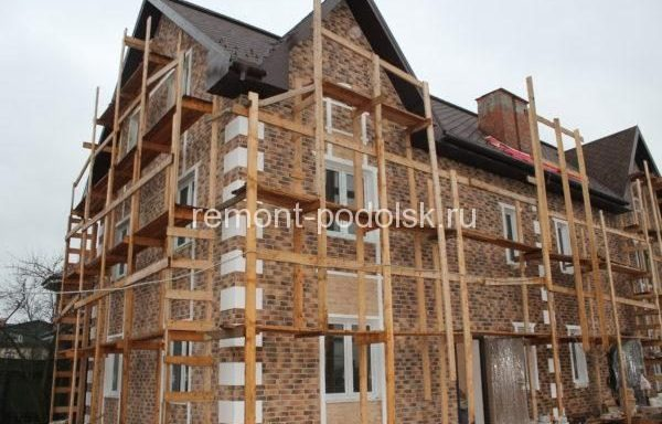 Строительство дома-дуплекс в деревне Жуково,Домодедовского района