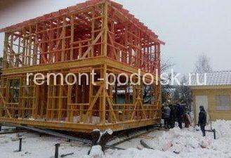 Строительство и перемещение каркасного дома в Подольске