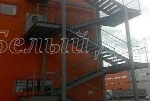 Окраска пожарной маршевой лестницы