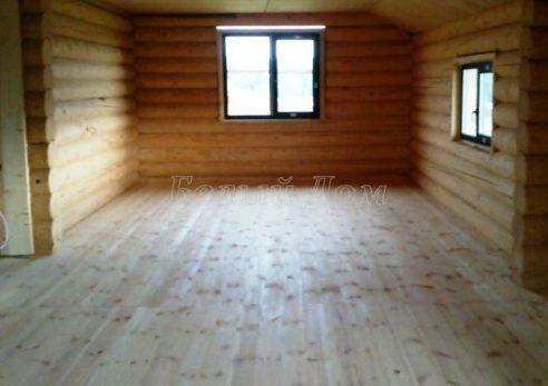 Отделка пола и потолка деревянного дома