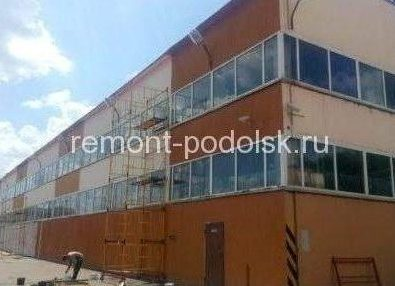 Покраска складов в Климовске