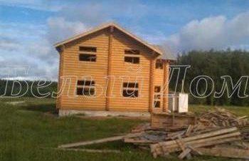 Строительство дома из бревна д.Петрухино
