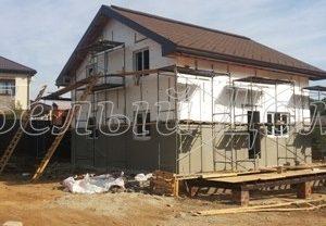 Строительство дома в деревне Чулпаново,Домодедовского района