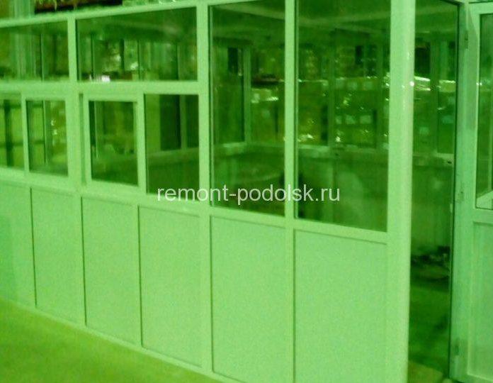 Устройство офисных модулей внутри склада